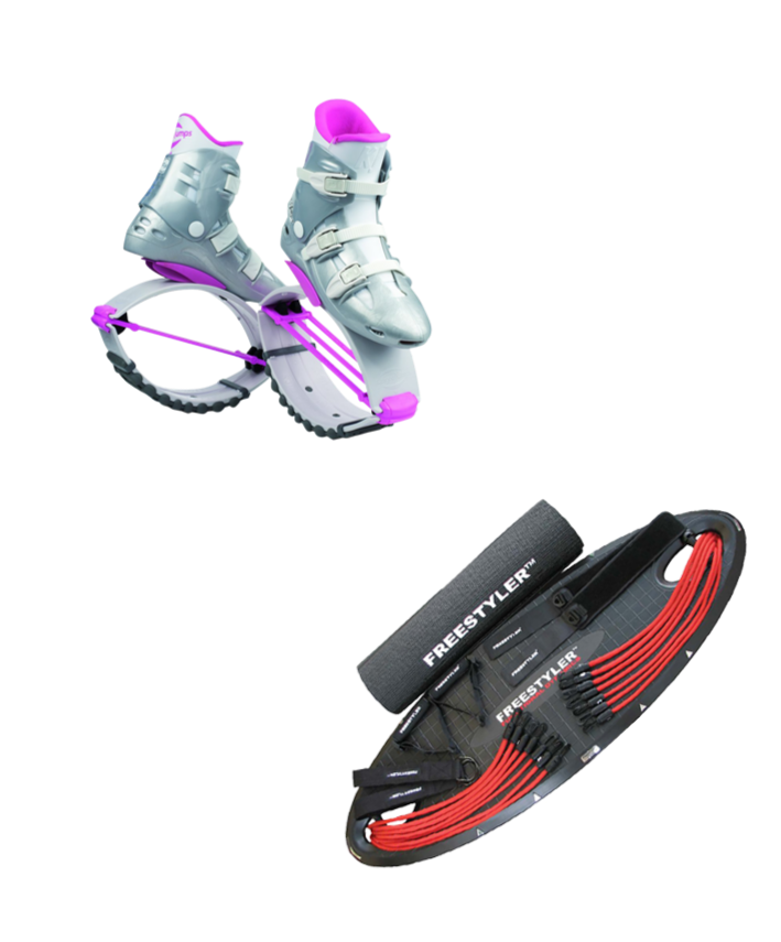 Kangoo Jump shoes with Freestyler Board