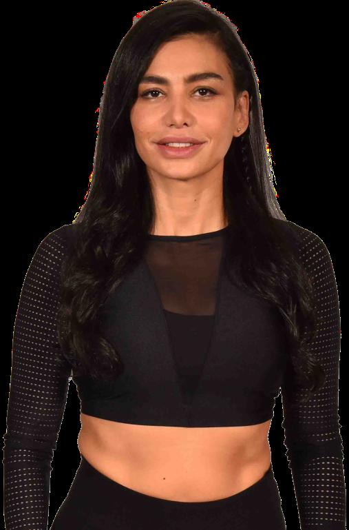 Maya Zaidan standing wearing black sport cloth
