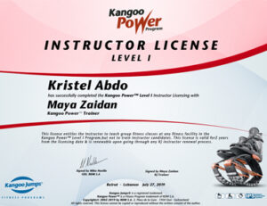 Kangoo Jumps Certificate